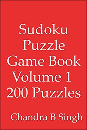Sudoku Puzzle Game Book Volume 1